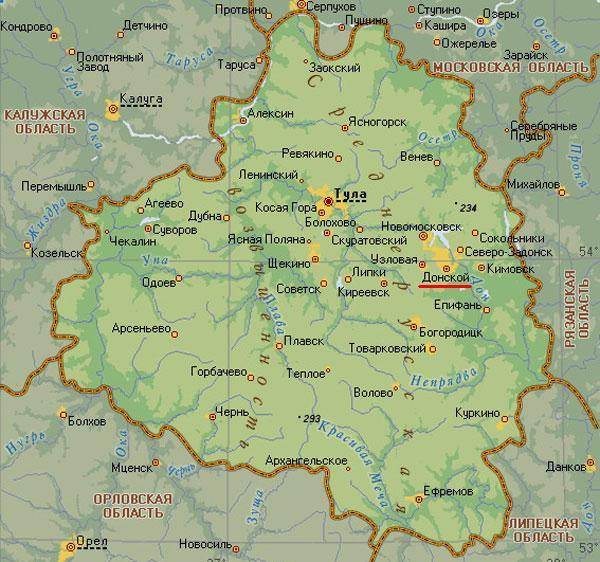 и поселки: Северо-Задонск